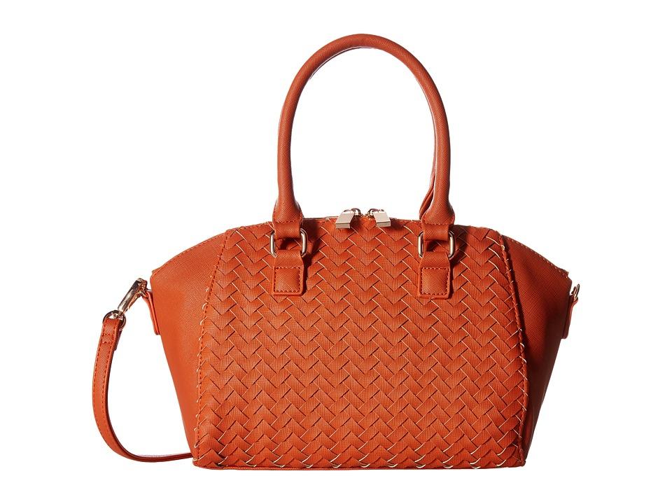Deux Lux - Sullivan Weave Satchel (Pumpkin) Satchel Handbags