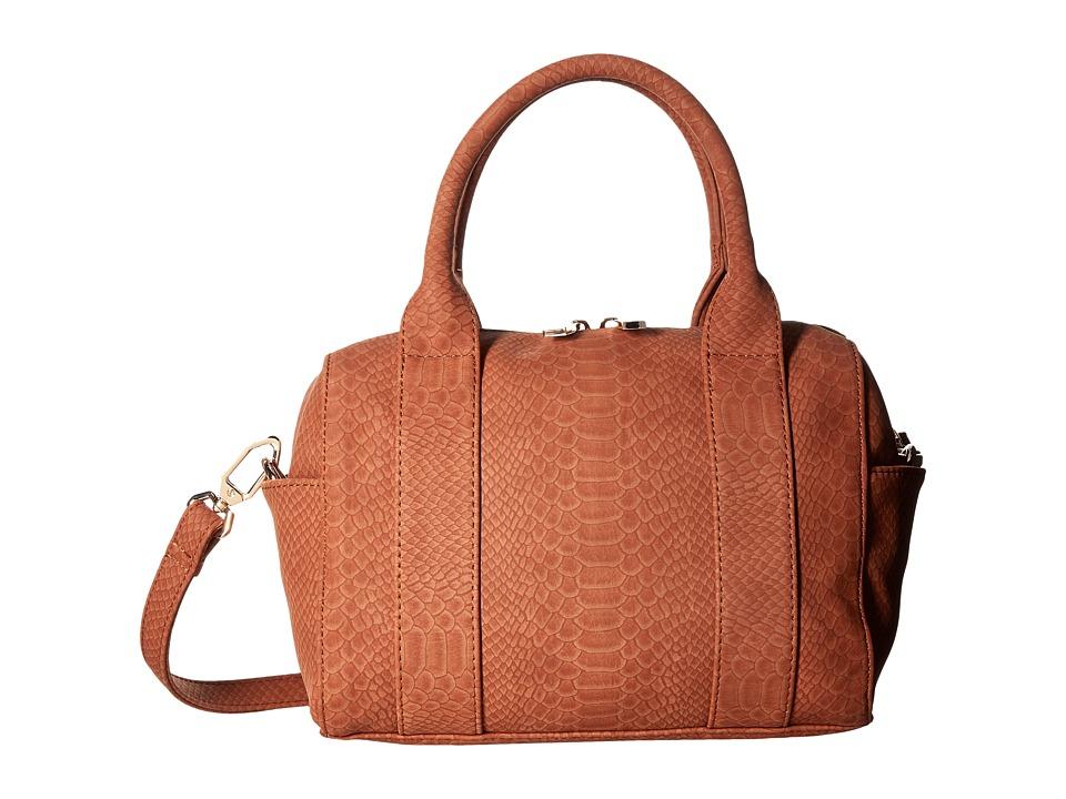 Deux Lux - Sydney Snake Mini Duffel (Cognac) Duffel Bags