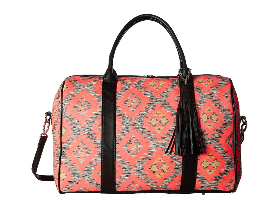 Deux Lux - Canyon Fabric Weekender with Tassel (Coral) Weekender/Overnight Luggage