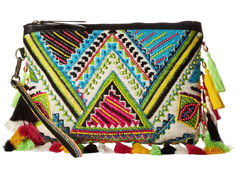 Steven - Dorado Fringe Clutch (Green Multi) Clutch Handbags