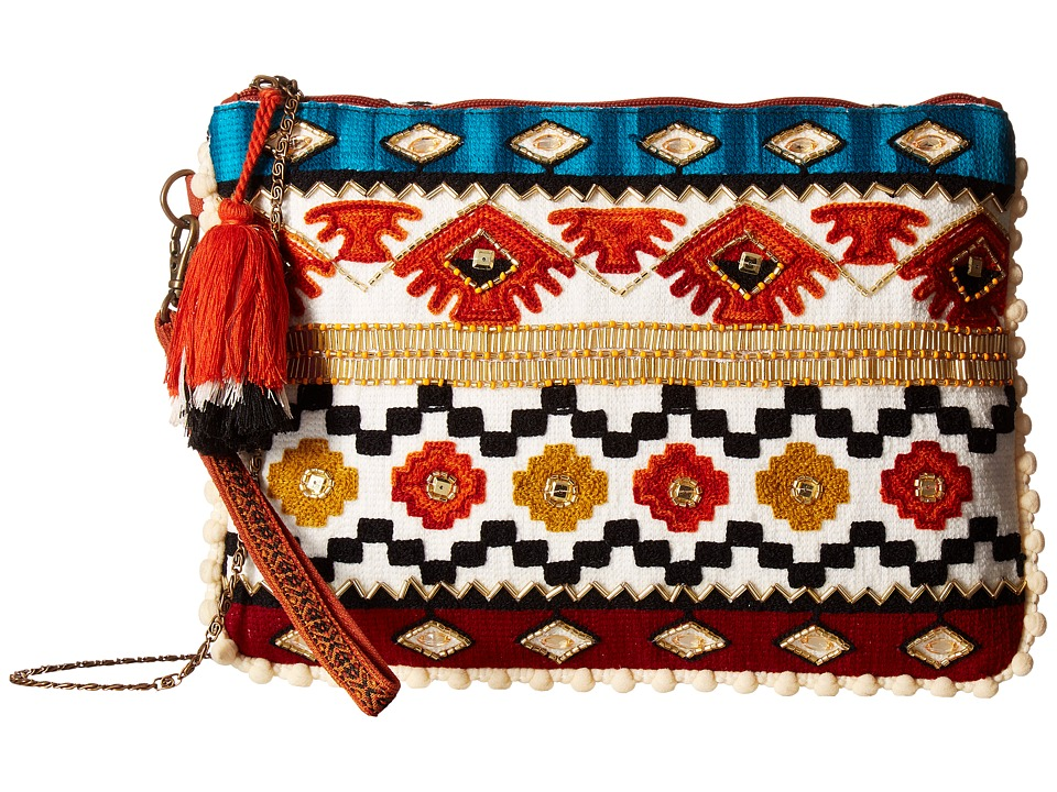 Steven - Arya Embroidered Clutch (Spice) Clutch Handbags