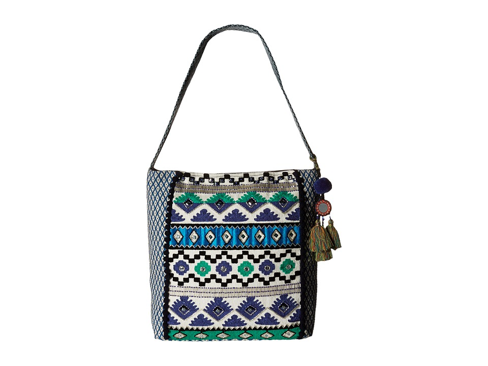 Steven - Alyson Embroidered Hobo (Blue) Hobo Handbags