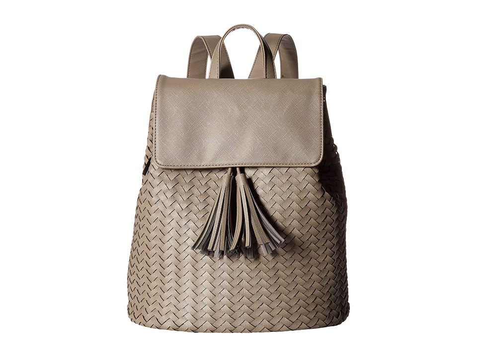 Deux Lux - Sullivan Weave Backpack with Tassels (Grey) Backpack Bags