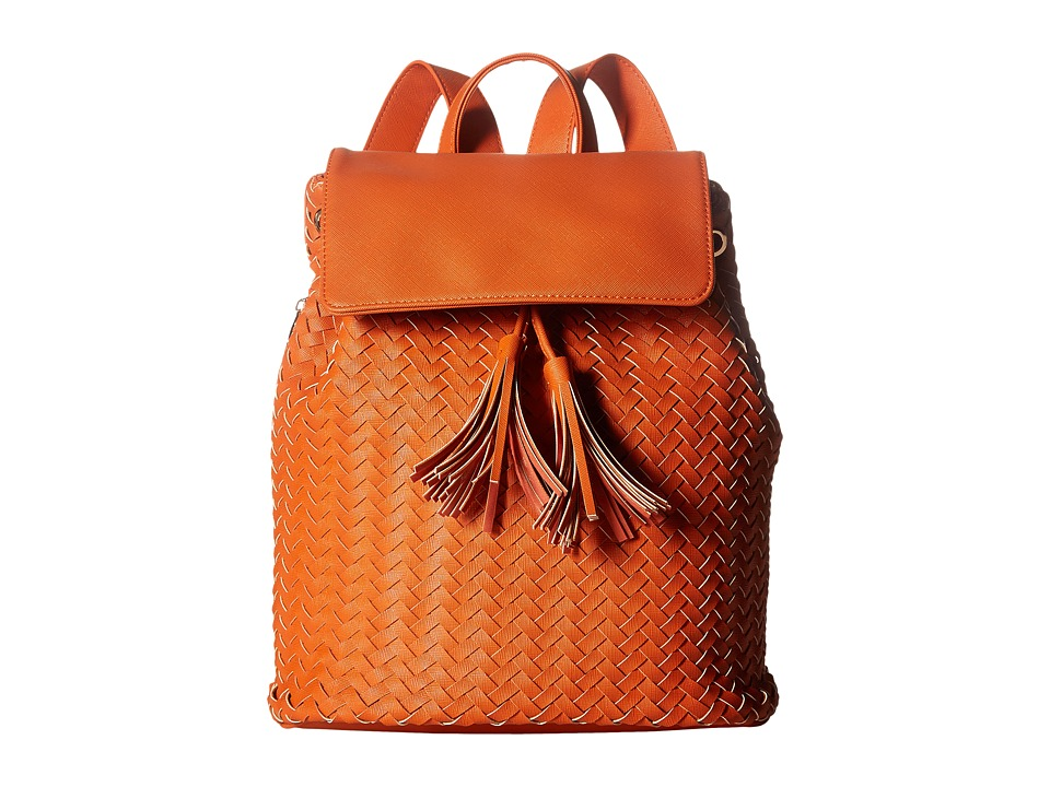 Deux Lux - Sullivan Weave Backpack with Tassels (Pumpkin) Backpack Bags