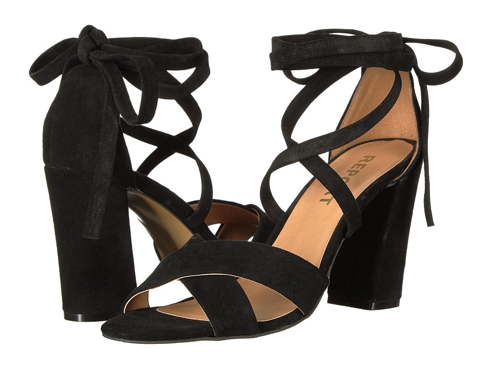 Report - Mara (Black Suede) High Heels