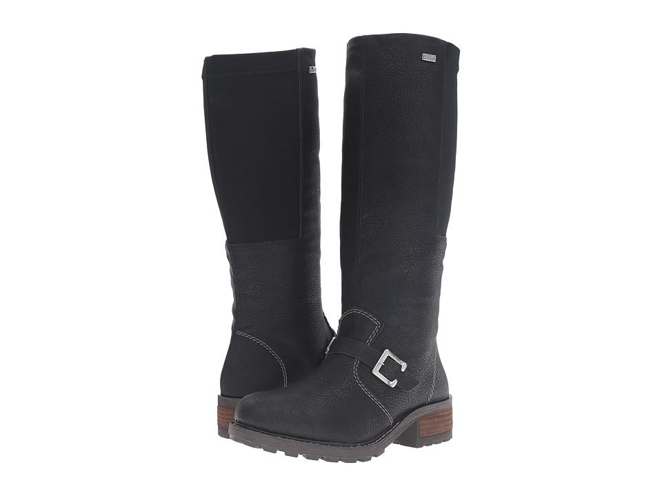 Rieker - Y0481 (Black/Black Greece/Stretch) Women's Pull-on Boots