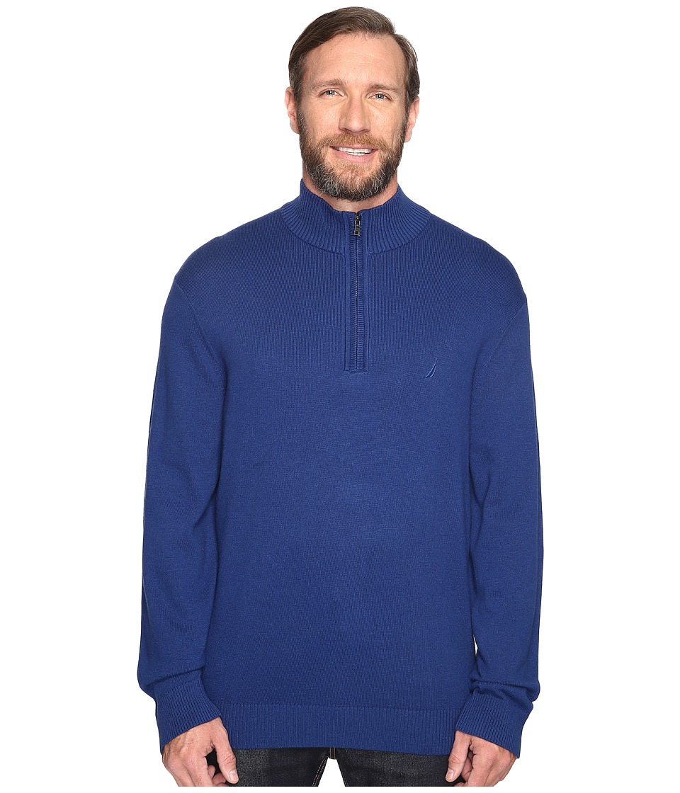 Nautica Big & Tall - Big Tall 1/4 Zip Sweater (Estate Blue) Men's Sweater