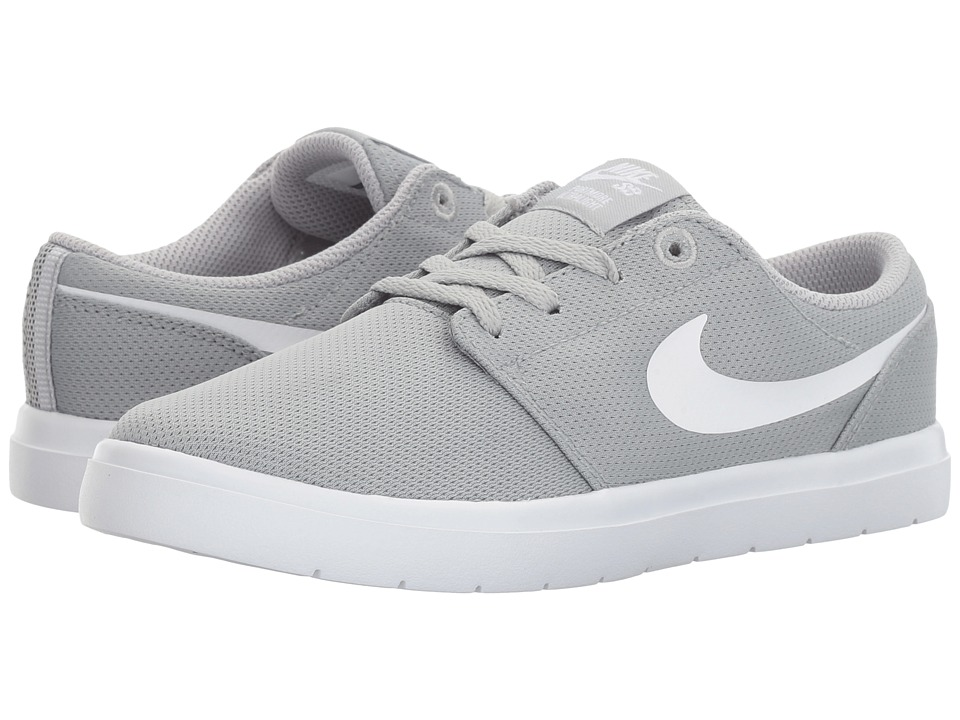 Nike SB Kids - Portmore II Ultralight (Little Kid) (Wolf Grey/White) Boy's Shoes