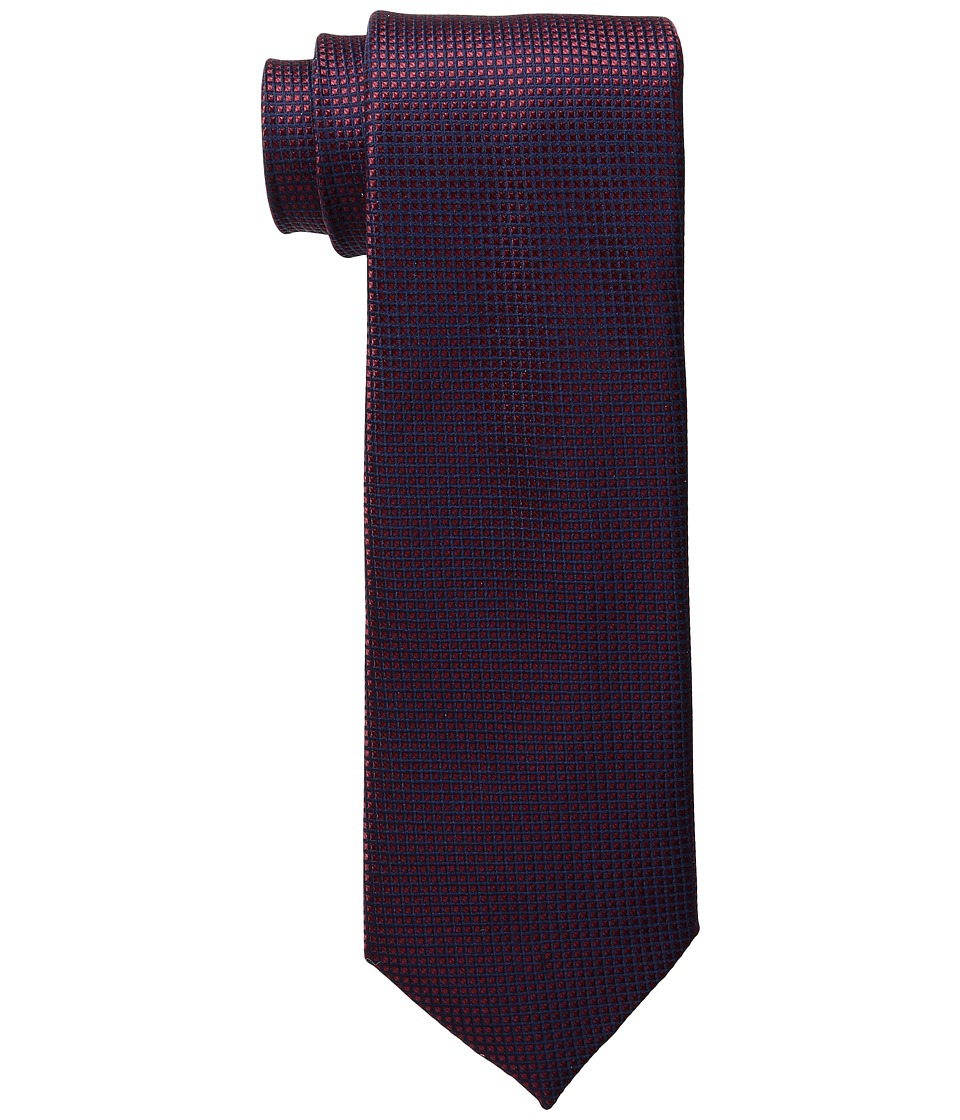 Tommy Hilfiger - Navy Micro (Red) Ties
