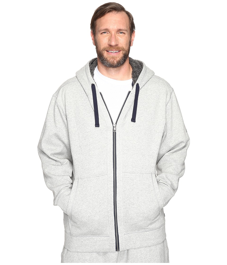 Nautica Big & Tall - Big Tall Full Zip Hoodie with Pockets (Grey Heather) Men's Sweatshirt