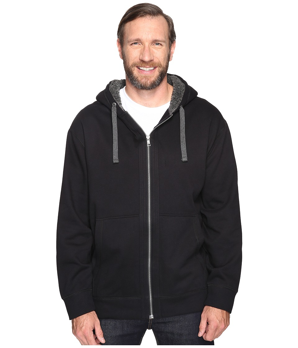 Nautica Big & Tall - Big Tall Full Zip Hoodie with Pockets (True Black) Men's Sweatshirt