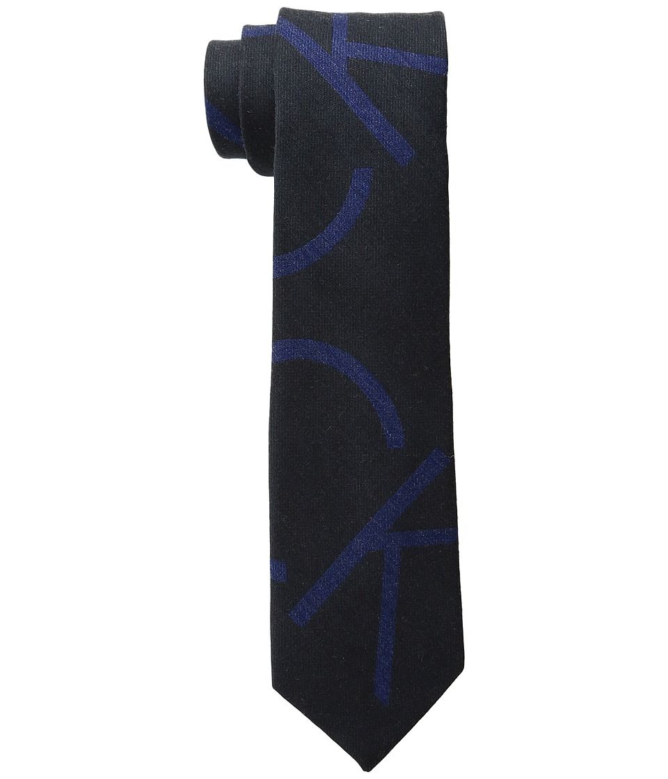 Calvin Klein - Macro Logo (Black) Ties