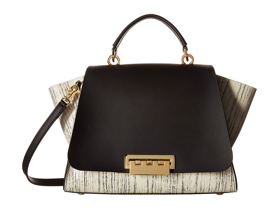 ZAC Zac Posen - Eartha Iconic Top-Handle Wood Print (Black) Top-handle Handbags