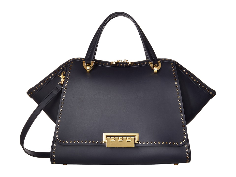 ZAC Zac Posen - Eartha Iconic Jumbo Double Handle (Navy) Handbags