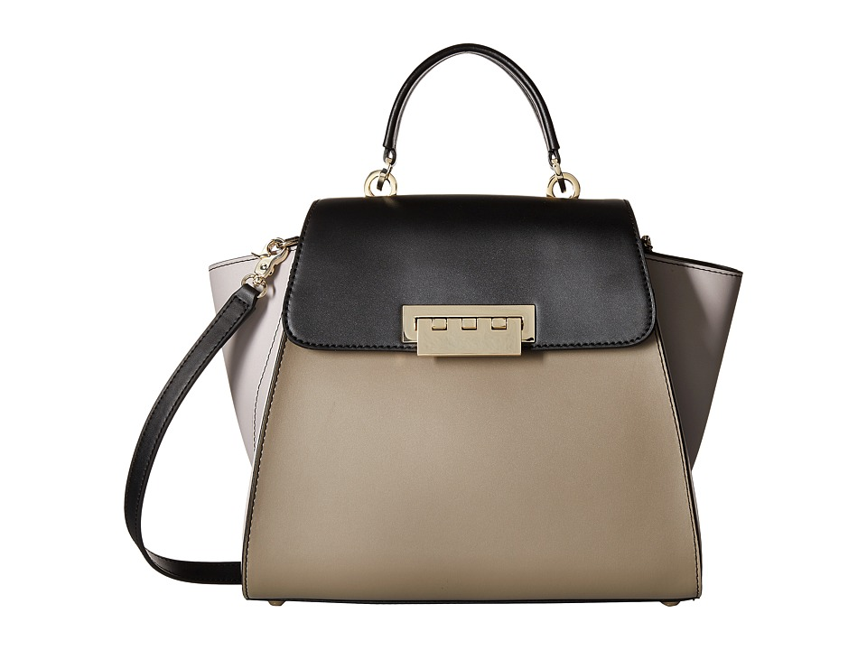 ZAC Zac Posen - Eartha Iconic Top-Handle Color Block (Light Pastel Brown) Top-handle Handbags