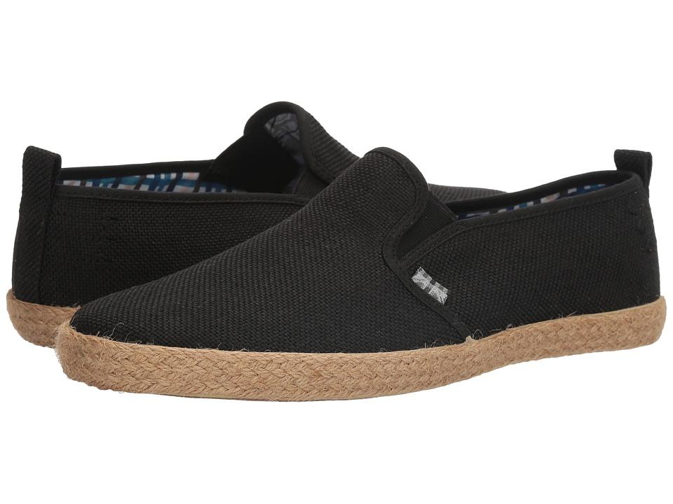 Ben Sherman - New Prill Slip-On (Black Linen) Men's Slip on Shoes