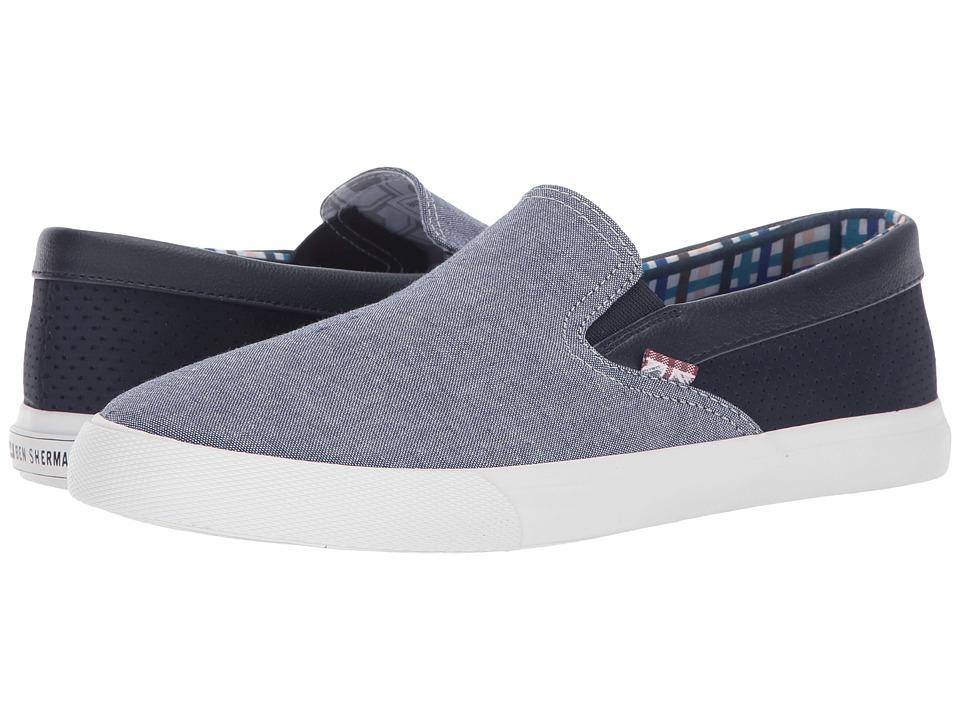 Ben Sherman - Pete Slip-On (Navy) Men's Slip on Shoes