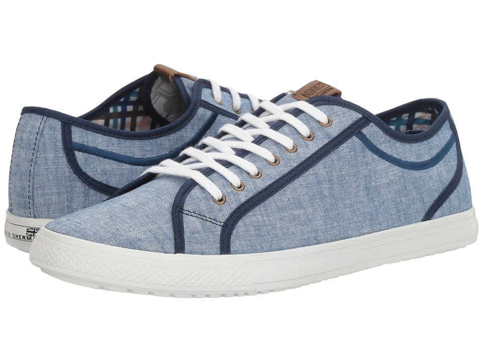 Ben Sherman - Chandler Lo (Blue Chambray) Men's Lace up casual Shoes