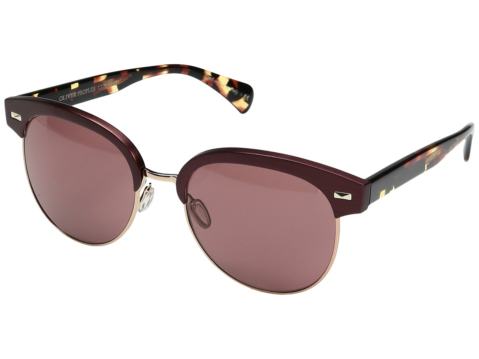 Oliver Peoples - Shaelie (Burgundy/Rose Gold/Damson) Fashion Sunglasses