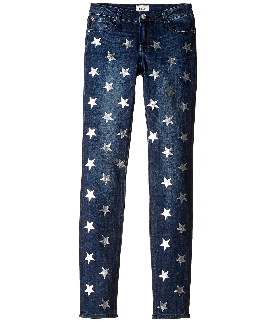 Hudson Kids - Five-Pocket Skinny with Foil Star Print Jeans in Sky Blue (Big Kids) (Sky Blue) Girl's Jeans