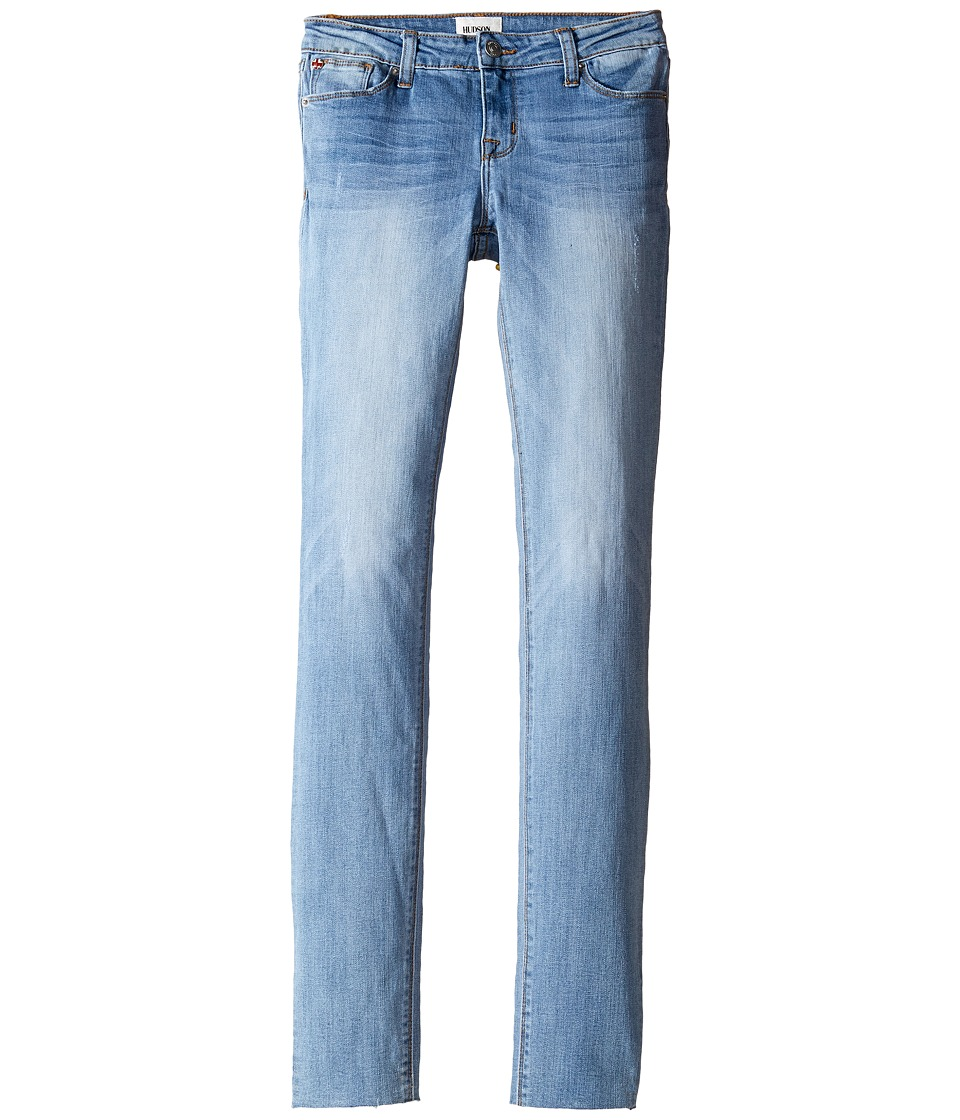 Hudson Kids - Dolly Five-Pocket Skinny with Raw Hem Jeans in Ice (Big Kids) (Ice) Girl's Jeans