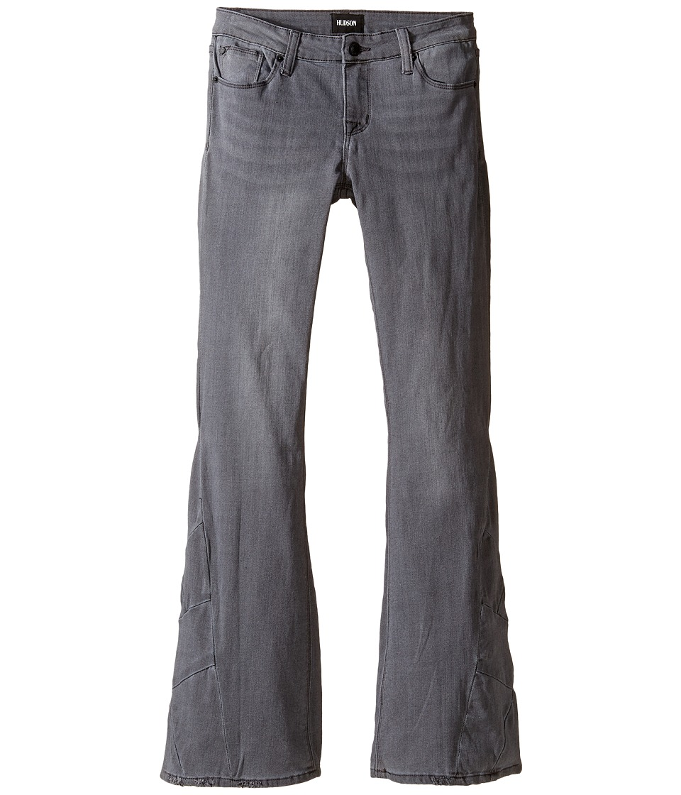 Hudson Kids - Five-Pocket Patchwork Flare Jeans in Iron Horse Grey (Big Kids) (Iron Horse Grey) Girl's Jeans