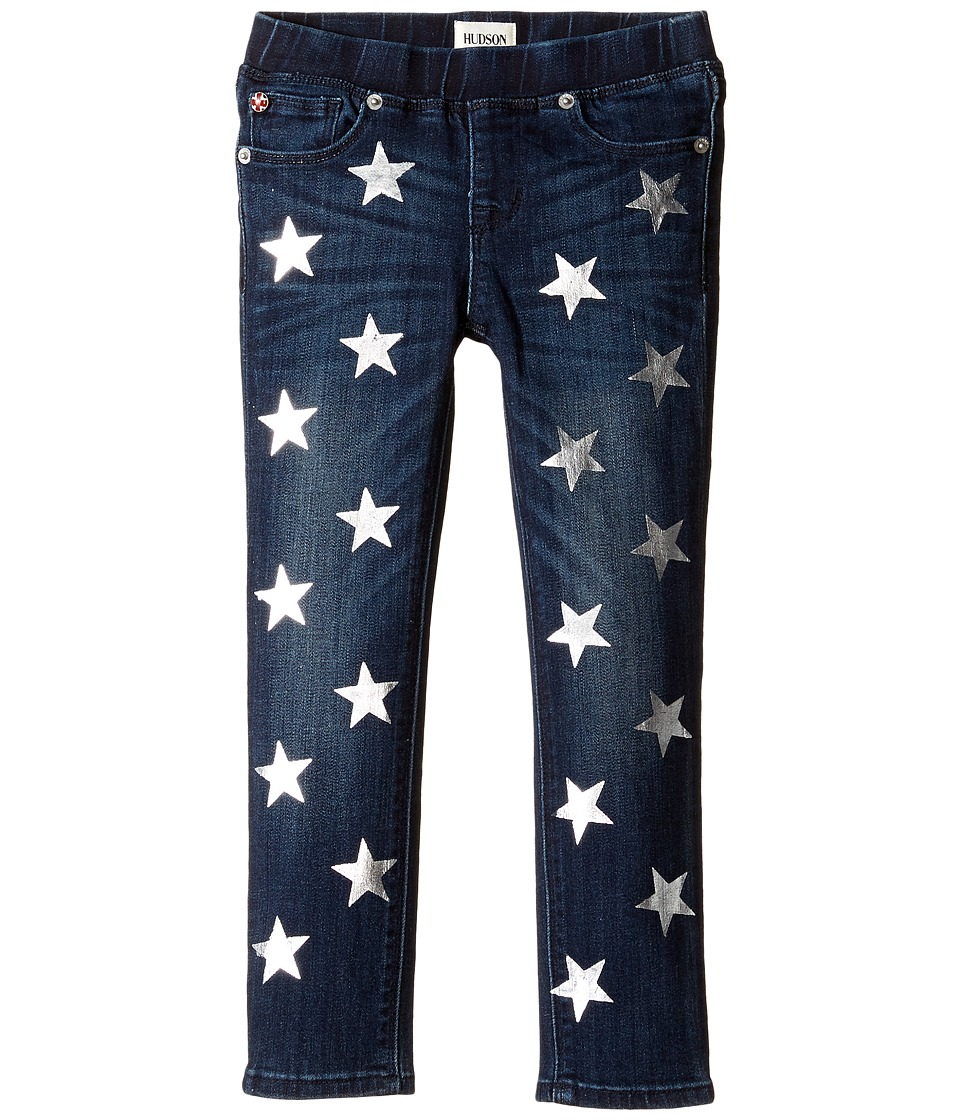 Hudson Kids - Five-Pocket Skinny with Foil Star Print Jeans in Sky Blue (Toddler/Little Kids) (Sky Blue) Girl's Jeans