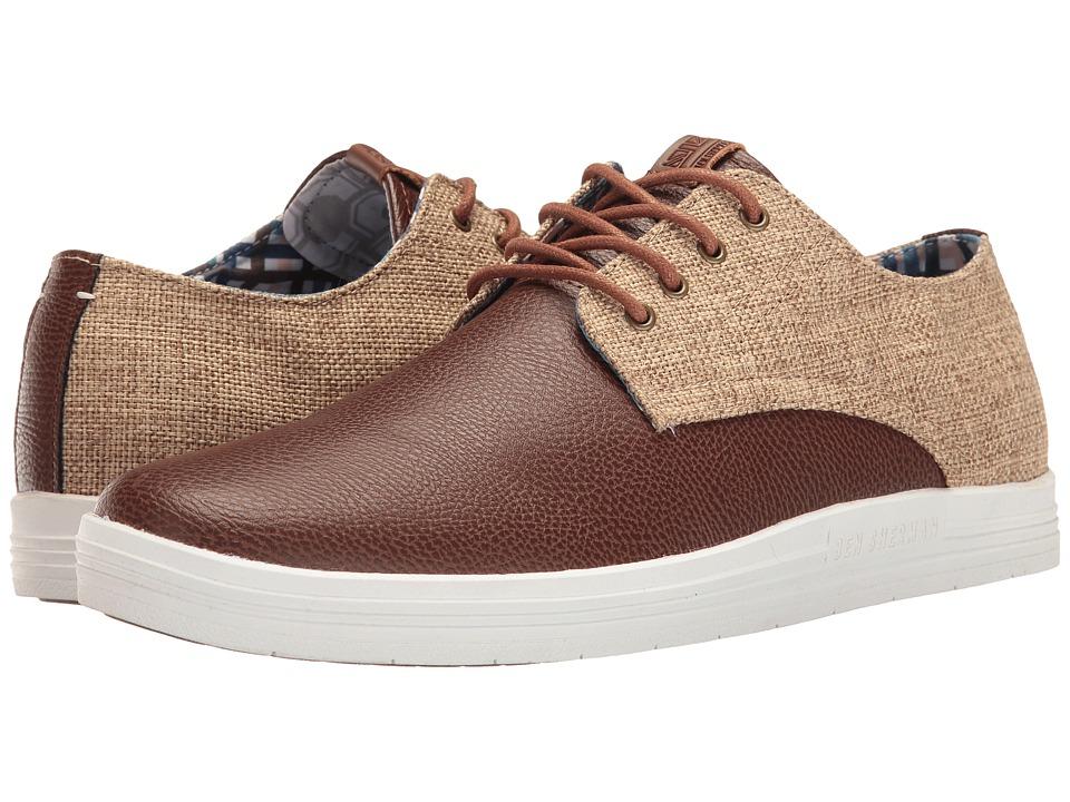 Ben Sherman - Payton (Cognac/Linen) Men's Lace up casual Shoes