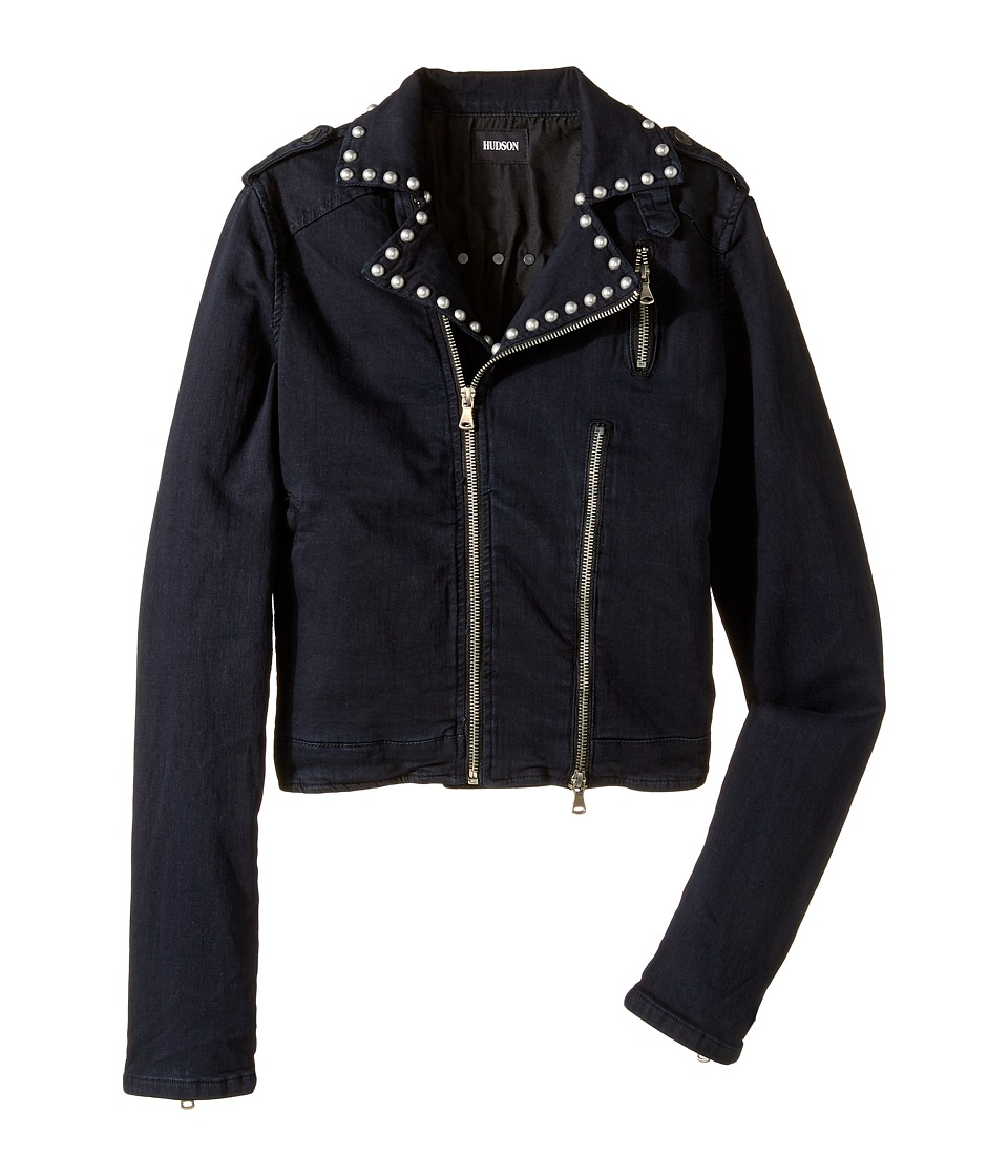 Hudson Kids - Moto Jacket with Studs Trim (Big Kids) (Black) Girl's Coat