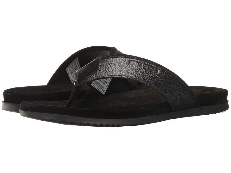 Ben Sherman Milo Thong (Black Leather) Men