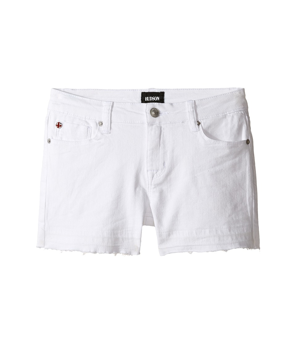 Hudson Kids - 3 Fray Shorts in White (Big Kids) (White) Girl's Shorts