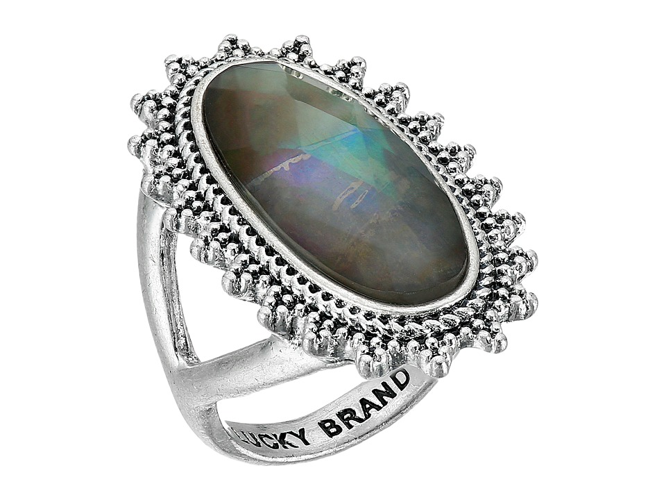 Lucky Brand - Mother-of-Pearl Statement Ring (Silver) Ring