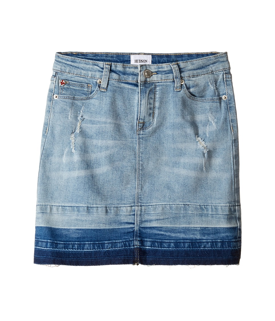 Hudson Kids - Fearless Five-Pocket Straight Skirt with Release Hem (Big Kids) (Pale Blue) Girl's Skirt