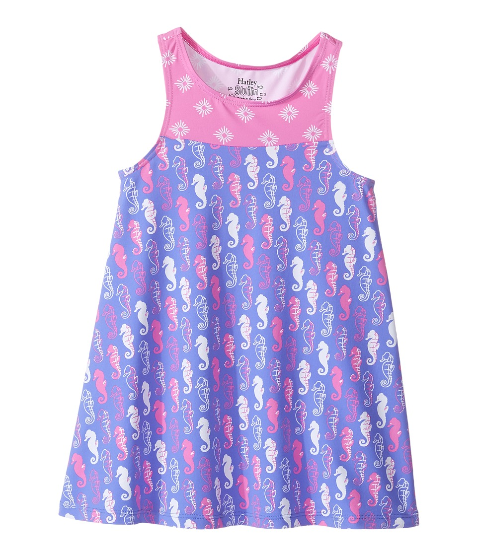 Hatley Kids - Sea Horse Swim Dress Cover-Up (Toddler/Little Kids/Big Kids) (Purple) Girl's Swimwear