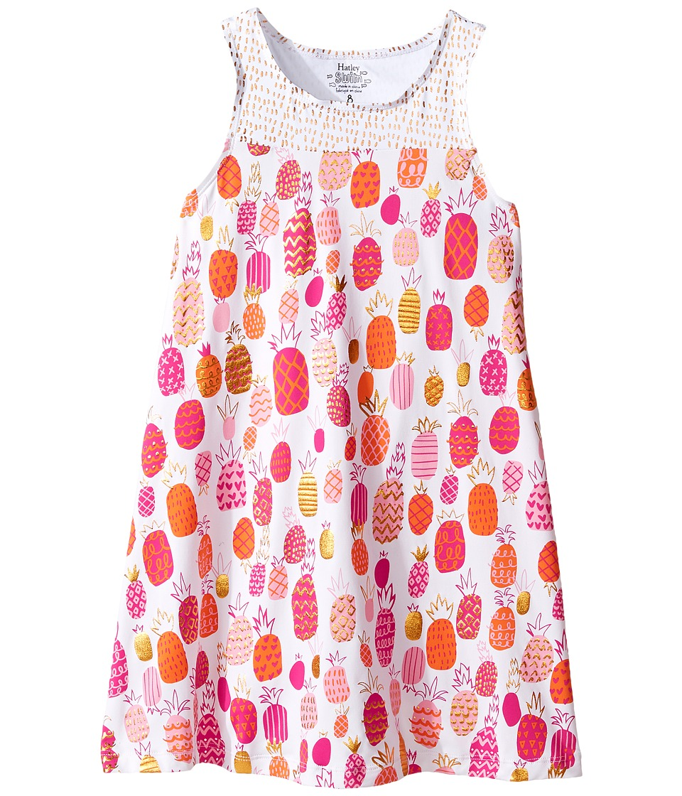 Hatley Kids - Tropical Pineapple Swim Dress Cover-Up (Toddler/Little Kids/Big Kids) (White) Girl's Swimwear