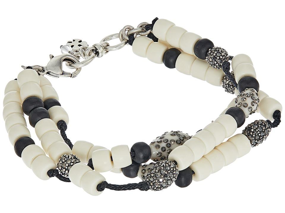 Lucky Brand - Beaded Bone Bracelet (Silver) Bracelet