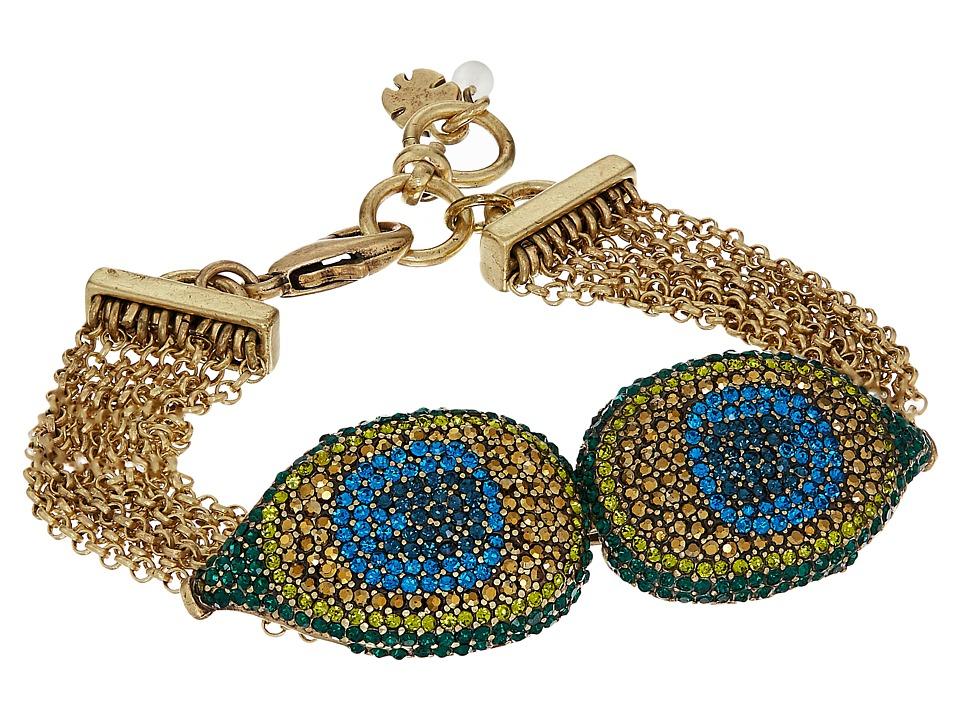 Lucky Brand - Peacock Pave Strand Bracelet (Gold) Bracelet