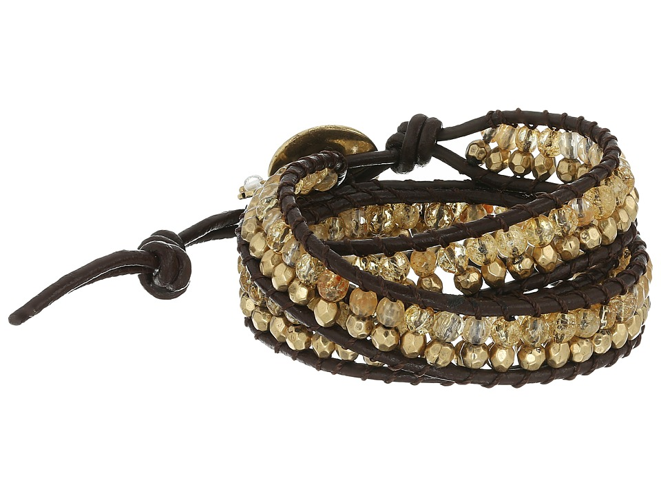 Lucky Brand - Beaded Wrap Bracelet II (Gold) Bracelet