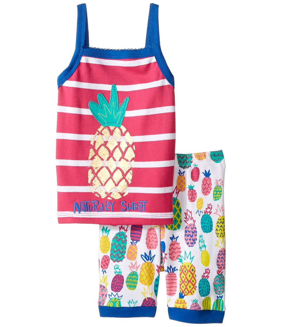 Hatley Kids - Tropical Pineapple Tank Pajama Set (Toddler/Little Kids/Big Kids) (Pink) Girl's Pajama Sets