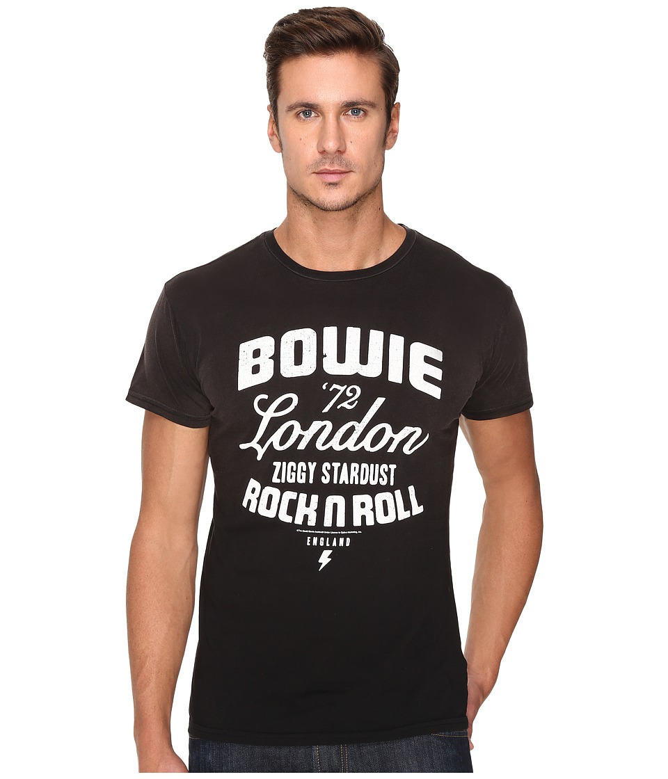 The Original Retro Brand - Potassium Wash Bowie Tour Tee (Potassium Black) Men's T Shirt
