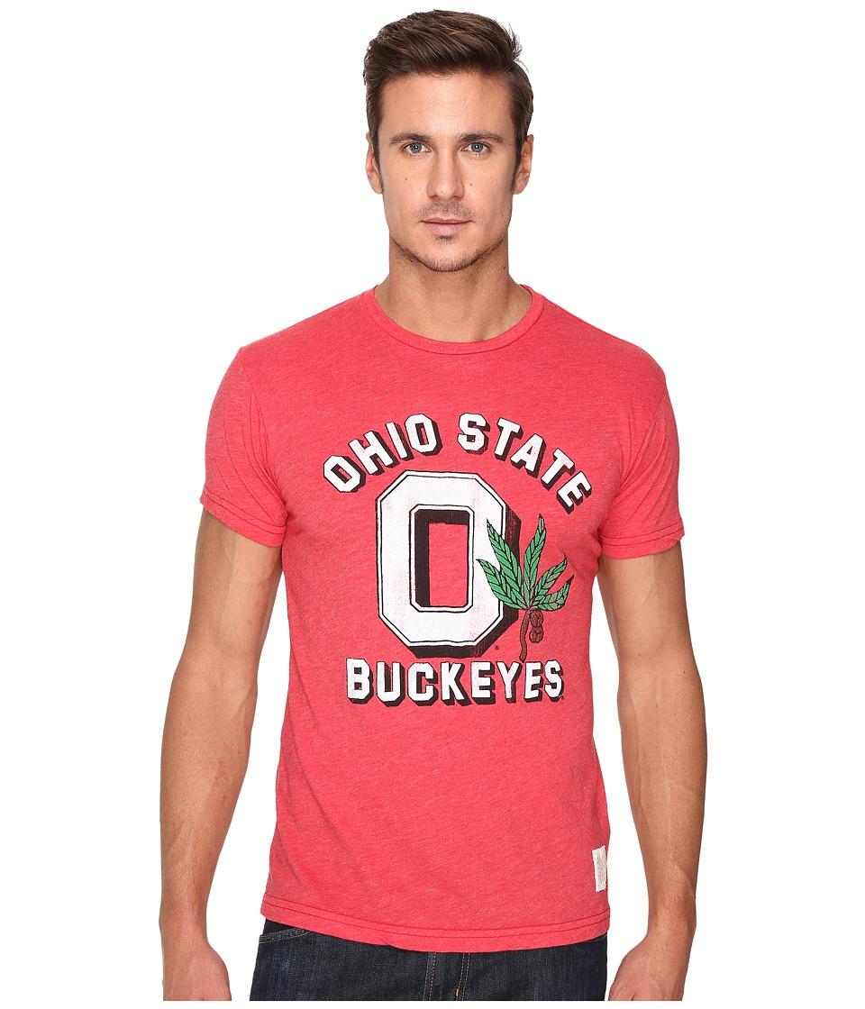 The Original Retro Brand Ohio State Short Sleeve Heather Tee (Heather Red) Men's T Shirt