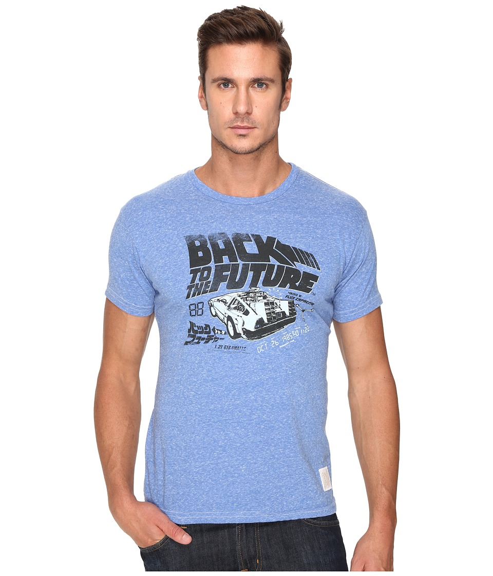 The Original Retro Brand Back To Future Tri-Blend Short Sleeve Tee (Streaky Blue) Men