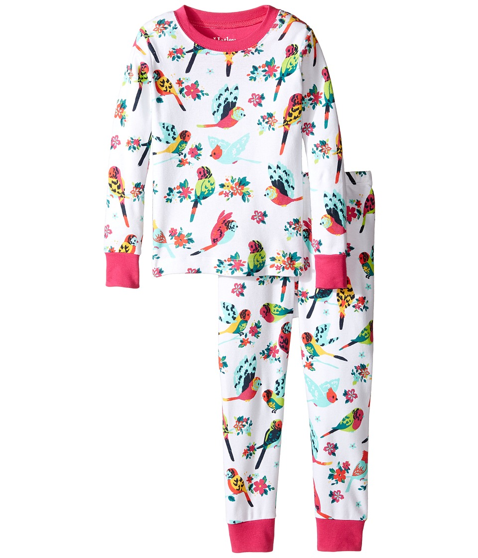 Hatley Kids - Tropical Birds Pajama Set (Toddler/Little Kids/Big Kids) (White) Girl's Pajama Sets