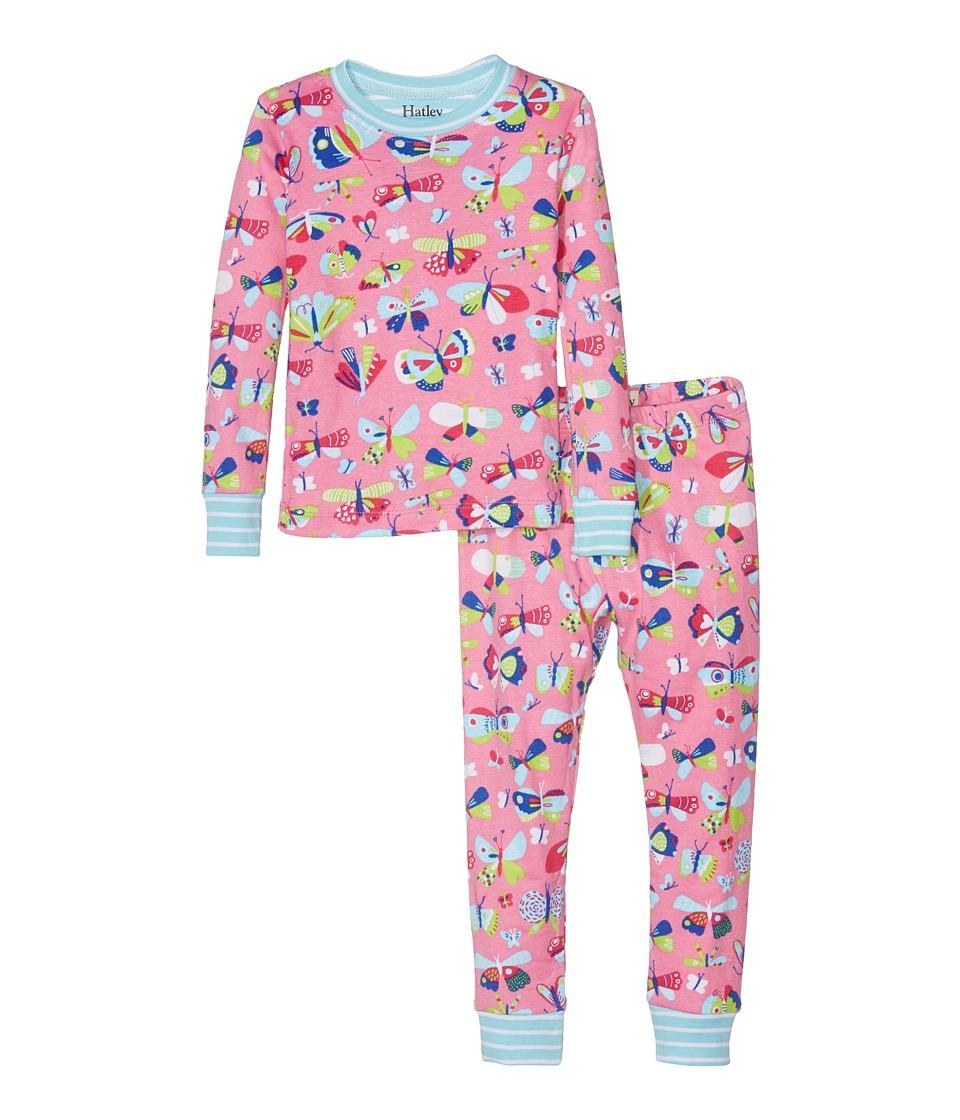 Hatley Kids - Pretty Butterflies Pajama Set (Toddler/Little Kids/Big Kids) (Pink) Girl's Pajama Sets