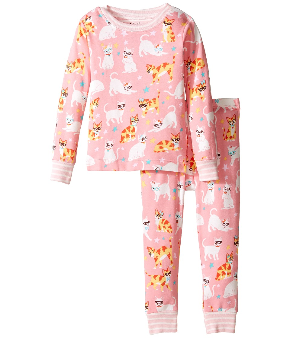Hatley Kids - Cool Cats Pajama Set (Toddler/Little Kids/Big Kids) (Pink) Girl's Pajama Sets