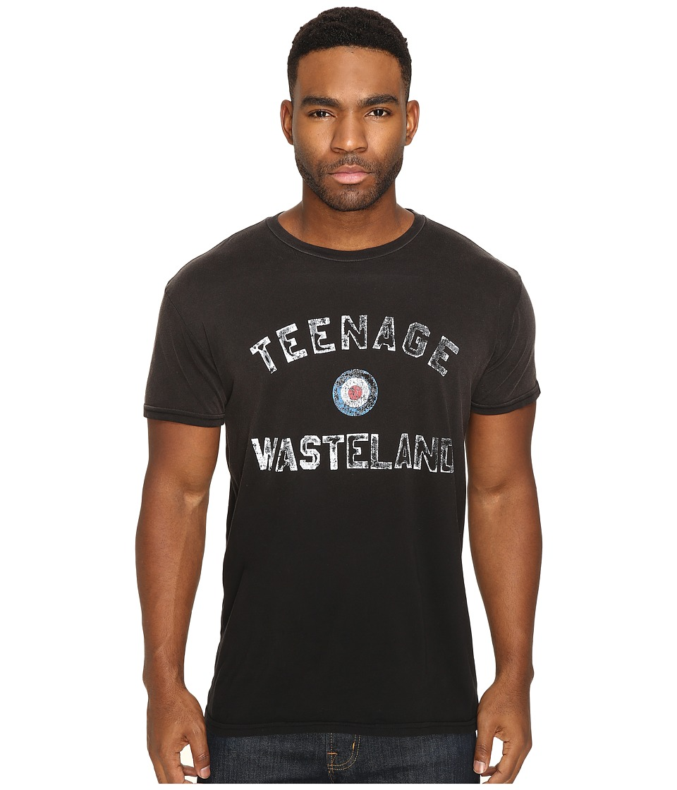 The Original Retro Brand - Potassium Wash Teenage Wasteland Tee (Potassium Black) Men's T Shirt