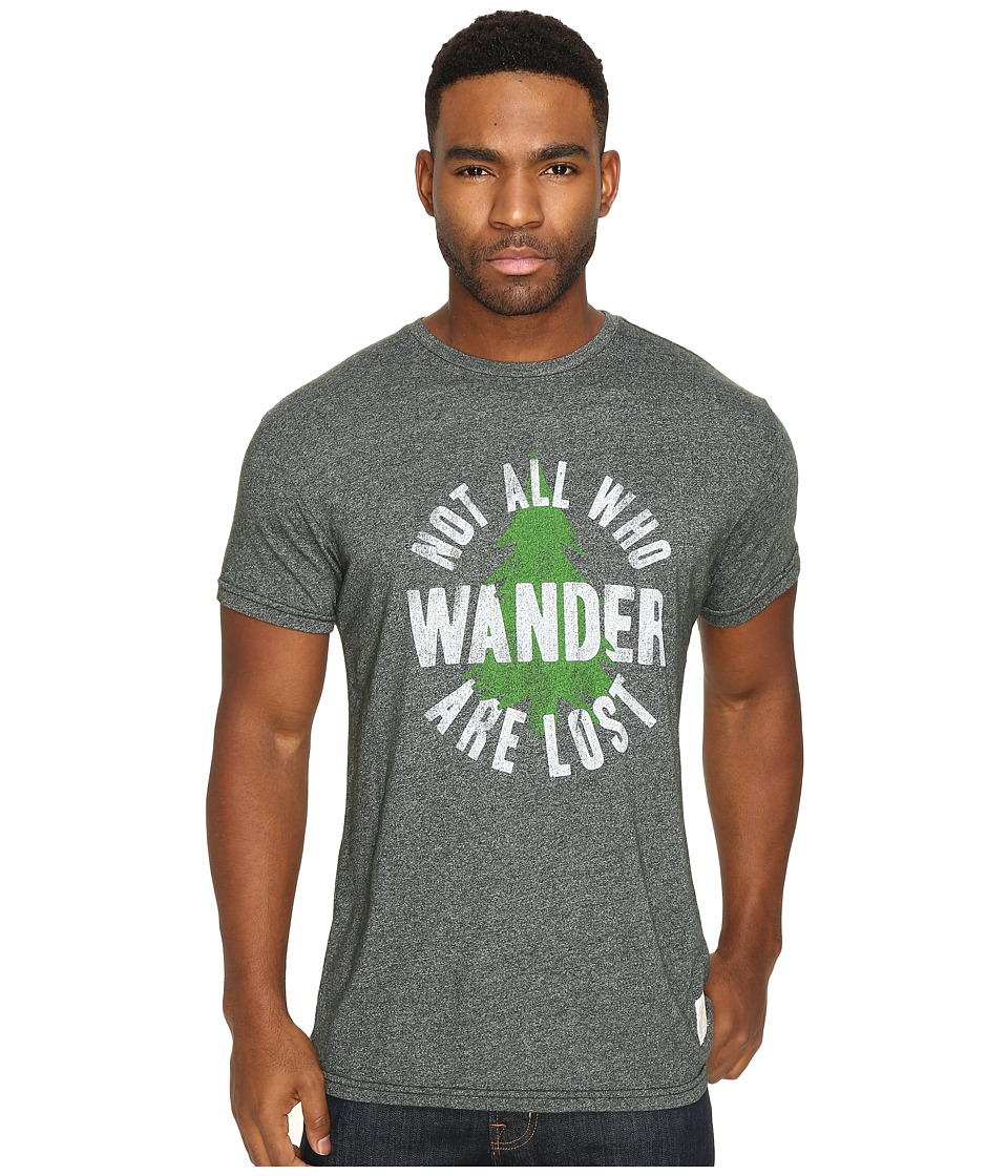 The Original Retro Brand - Not All Who Wander Short Sleeve Mock Twist Tee (Mock Twist Forest) Men's T Shirt