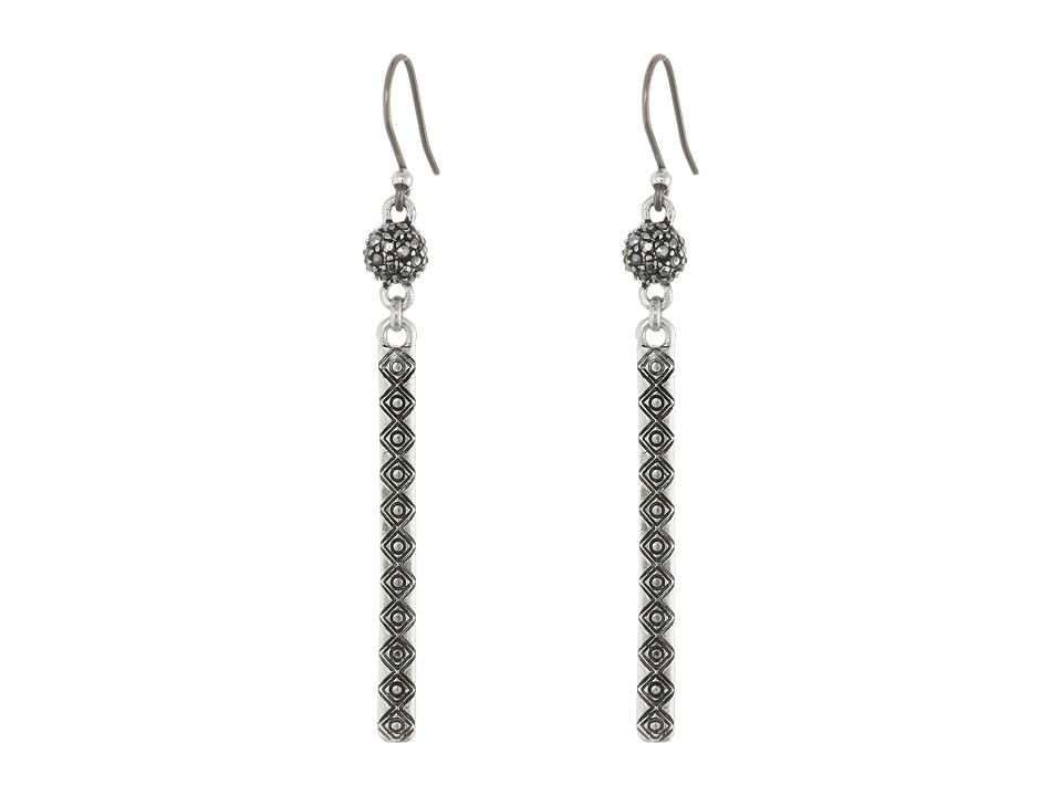 Lucky Brand - Teardrop Linear Earrings (Silver) Earring