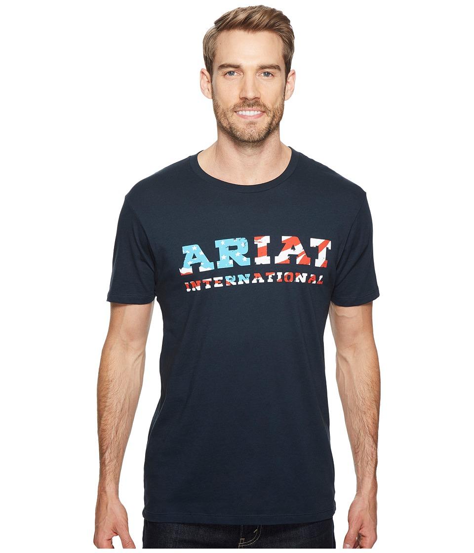 Ariat - Patriot Tee (Navy) Men's T Shirt