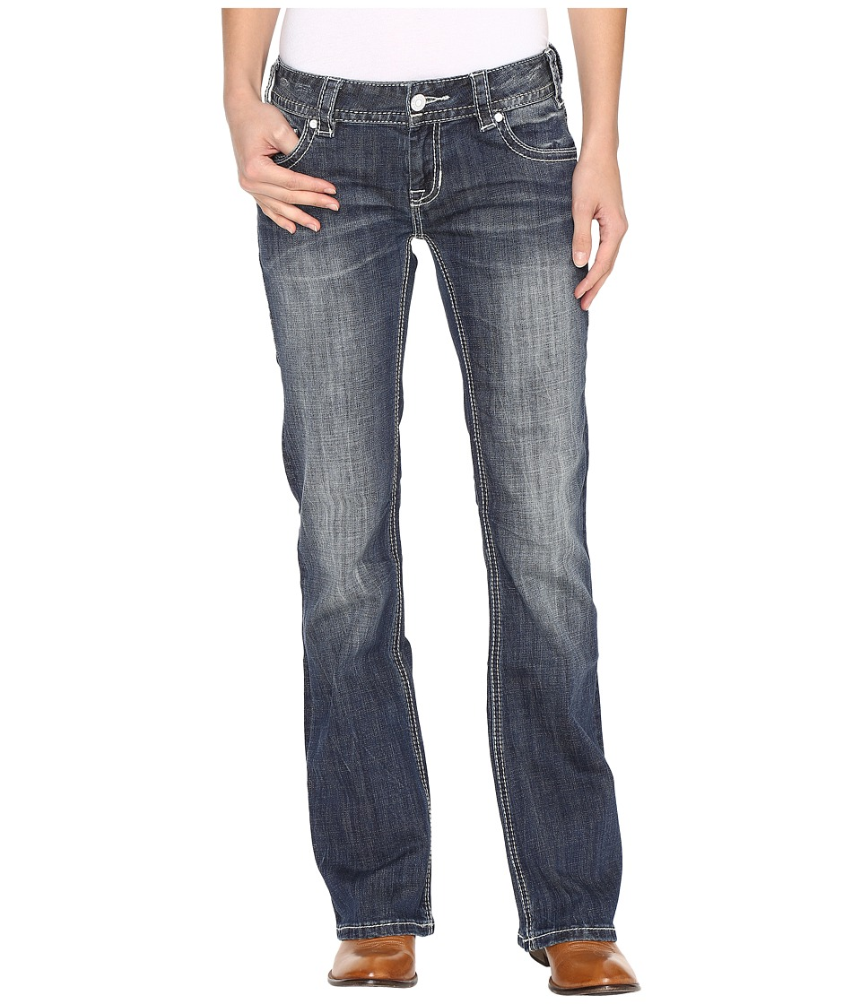 Rock and Roll Cowgirl - Low Rise Bootcut Jeans in Dark Vintage W0-9605 (Dark Vintage) Women's Jeans